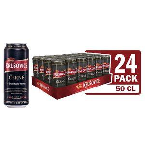Temno pivo Krušovice černe, alk.3.8 vol%, 0.5l