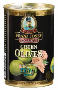 Olive, zelene, s tuno, 300g