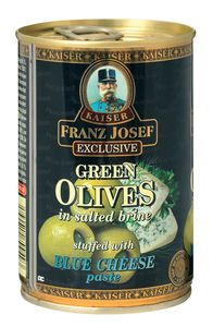 Olive, zelene s sirom, 300g
