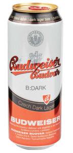 Pivo Budweiser, Budvar temno, alk. 4,7 vol %, 0,5 l