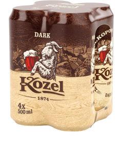 Pivo Kozel, temno, alk.3,8 vol%, 4×0,5l