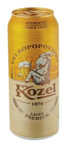 Pivo Kozel svetlo premium lager, pločevinka, alk 4,6 vol %, 0,5 l