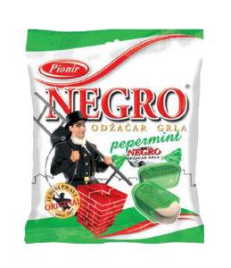 Bonboni Negro, pepermint, 100g