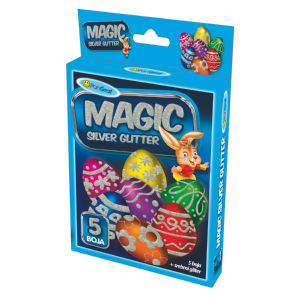 Bleščice Magic glitter – srebrna+5barv