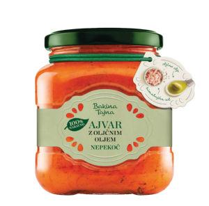Ajvar Bakina tajna z olivnim oljem, 300g