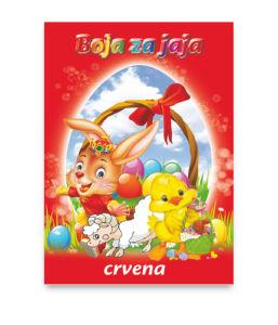 Barva za jajca, rdeča