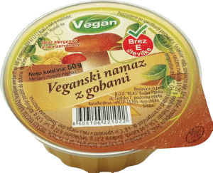 Namaz Vegan z gobami, 50 g