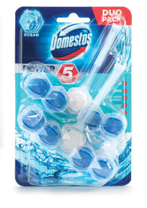 Osvežilec Domestos, Wc obešanka, Power5 ocean duo, 2x55g