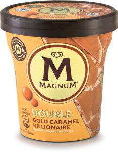 Sladoled Magnum Gold Billionaire, lonček, dvojna karamela, 440 ml