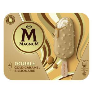 Sladoled Magnum Gold Billionaire, dvojna karamela, 4 x 85 ml
