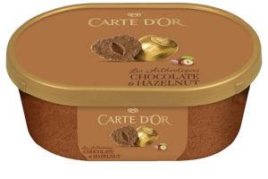 Sladoled Carte D'or, čokolada, lešnik, 1000 ml
