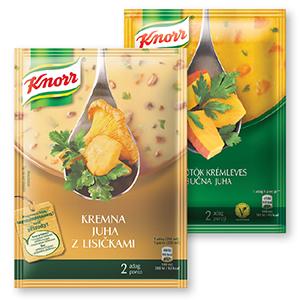 Knorr kremna juha, več vrst