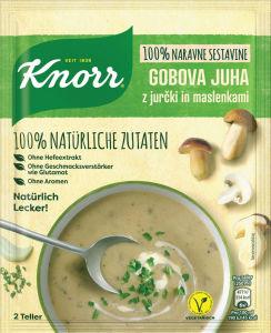 Juha Knorr z jurčki in maslenkami,  57 g