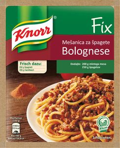 Mešanica Knorr fix, špageti bolognese, 42g