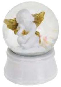 Dekoracija NL, vodna krogla, angelček, 45mm