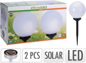 Svetilka solarna led ball, 20 cm, set 2/1