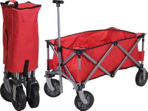 Voziček plažni, zložljiv, rdeč, max.teža 70kg
