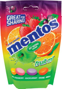 Bonboni Mentos mix, fruit bag, 140g