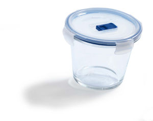 Doza Pure box, stekl., okrogla, 84cl