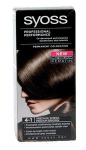 Barva za lase Syoss, srednje rjava, 4-1