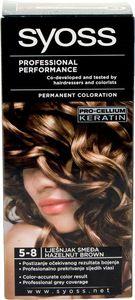 Barva za lase Syoss, lešnikovo rjava, 5-8
