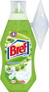Čistilo WC Bref, fresh apple, 360ml