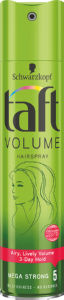 Lak za lase Taft, vol., mega strong, 250ml