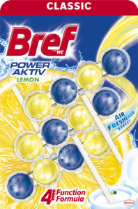 Osvežilec Bref, Power aktiv, lemon, 3x50g