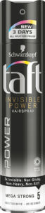 Lak za lase Taft, Power Invisible, 250ml