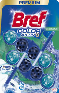 Osvežilec Bref, Blue activ, eucalyptus, 2x50g