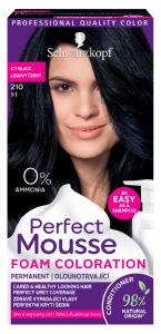 Barva Perfect Mousse, ledeno črna, 210