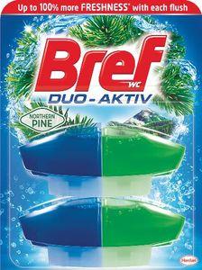 Osvežilec Bref, WC dua active, pine, 2x50ml