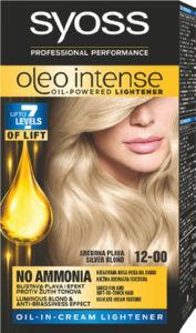 Barva Syoss, Oleo 12-0, srebrno blond