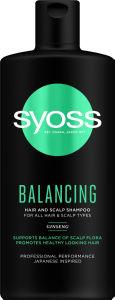 Šampon za lase Syoss Balancing, 440 ml