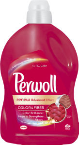Pralni prašek, Perwool, gel, renew advenced color, 2,7l