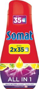 Detergent Somat All in1 lemon, 2x630ml