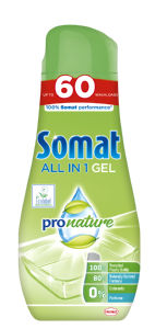 Detergent Somat All in One Pronature, Gel, 60pranj, 1,08 l