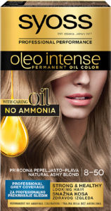 Barva za lase Syoss, Color Oleo 8 – 50 Natural Ashy Blond