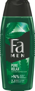 Gel za prhanje Fa, Men Pure Relax, 400 ml