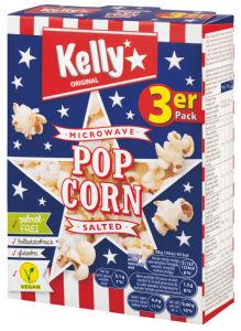 Pokovka Kelly's, soljena, za mikrovalovno pečico, 3x90g