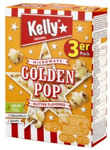 Pokovka Kelly's, za mikrovalovno, maslo, 3x90g