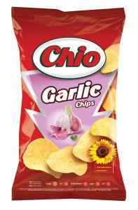 Čips Chio z okusom česna, 150g