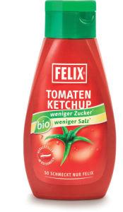 Ketchup Bio Felix, z manj soli in sladkorja, 435g