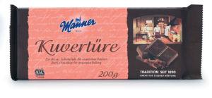 Čokolada Kuverture, za obliv, temna, 200 g