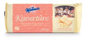 Čokolada ml.bela Kuverture, za obliv, 200 g