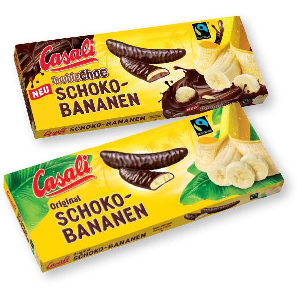 Desert Casali banane, čokoladne, 300g