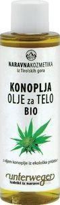 Olje za telo iz konoplje za nego in masažo kože, 150ml