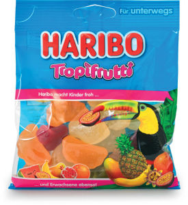Bonboni Haribo, tropski sadeži, 100g