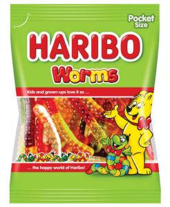 Bonboni Haribo, gumi sadni črvi, 100 g