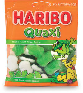 Bonboni Haribo, gumi sadne žabe, 100 g